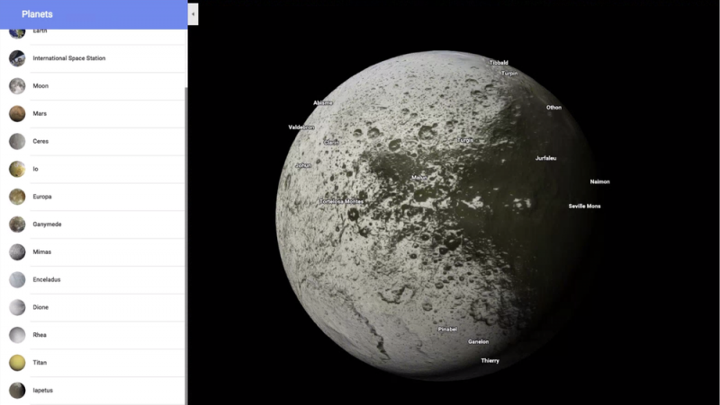 Space out with planets in Google Maps     DEMETER ICT