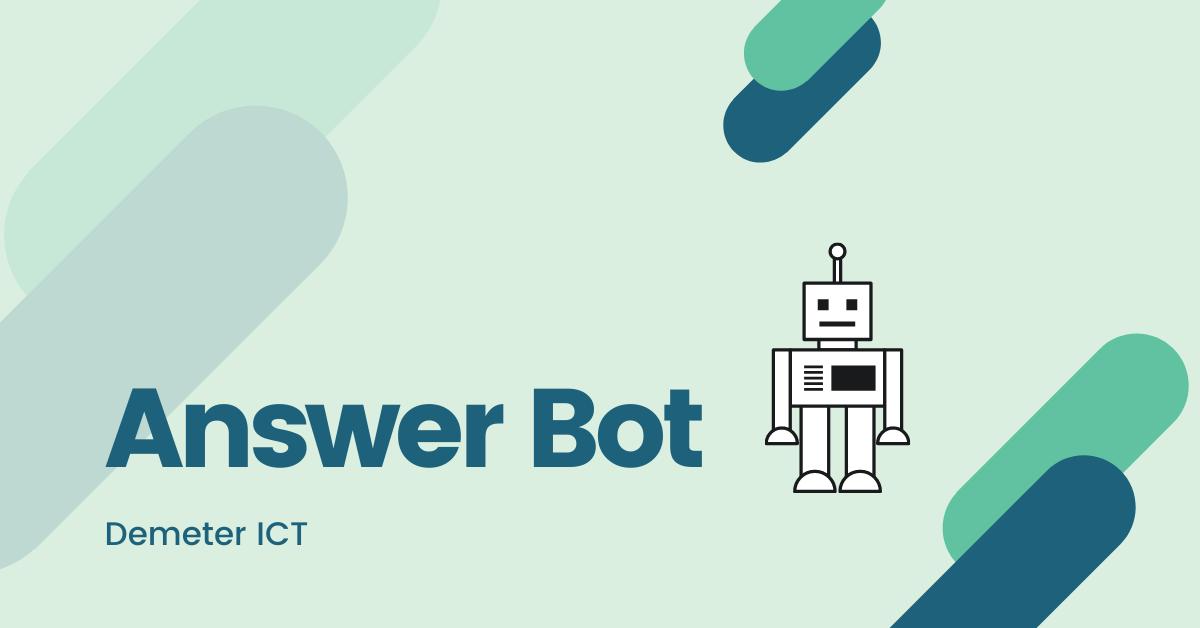 人工智慧 Answer bot